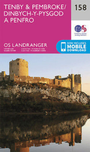 Tenby & Pembroke Landranger Map 158 Odnance Survey 2016