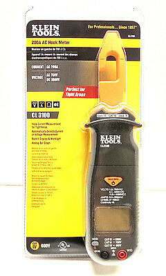 Klein Tools 200 Amp Hook Meter Ac Dc Volt Multimeter Clamp Ohm New