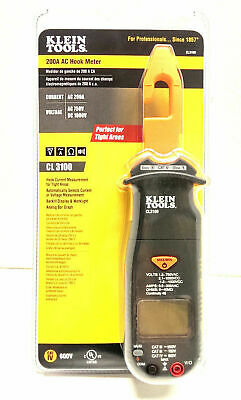 Klein Tools 200 Amp Hook Meter Ac Dc Volt Multimeter Clamp Ohm Electrician New