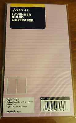 Personal Ruled Notepaper - Filofax Lavender Ruled Personal Size Notepaper - 133015 - Organizer/Planner