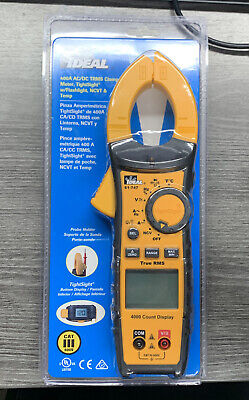 Ideal 61-747 Digital 600-volt Clamp Meter With Case - New