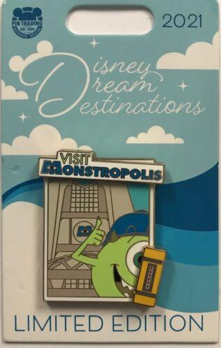 Disney Parks 2021 Dream Destinations Visit Monstropolis Mike Monsters Inc LE Pin
