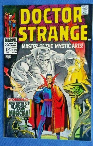 DOCTOR STRANGE #169, 1968 Origin Retold, Classic Marvel Silver Age KEY ISSUE 8.5