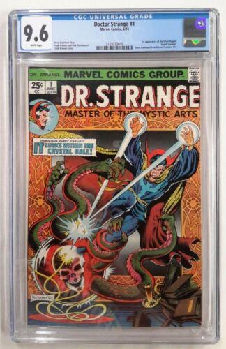 🔥DR DOCTOR STRANGE #1 CGC 9.6**JUN 1974 MARVEL**1ST APP OF SILVER DAGGER**WHITE