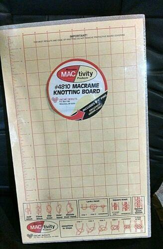 Vintage NOS MAC/tivityt  Brand Macrame  Knotting  Board & Pins