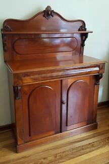 Antique Victorian Mahogany Chiffonier c.18.70's