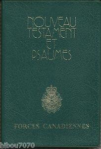 NOUVEAU-TESTAMENT-ET-PSAUMES-FORCES-CANADIENNES-1997