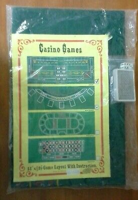 Craps Table Cover (Blackjack Green Felt Casino Gaming Table Cover 36