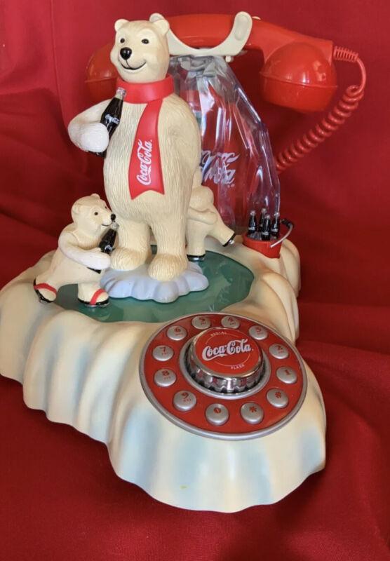 Coca Cola Animated Polar Bear Phone Coke Soda Advertising Telephone Collectible