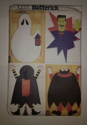 Butterick 3277 No Sew Halloween Door Decorations](Halloween Door Decorations Crafts)