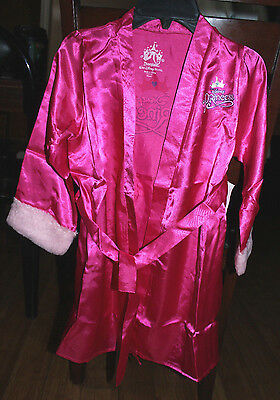 DISNEY PRINCESS ROBE FOR GIRLS SIZE SMALL 6 DARK PINK MSRP $30.00  - Disney Princess For Girls