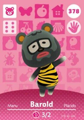 Custom Barold Amiibo Compatible Card #378 Animal Crossing