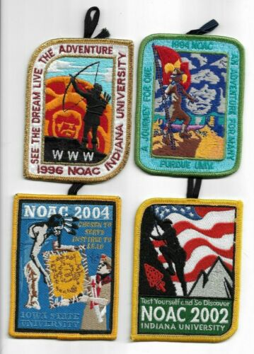 boy scout OA NOAC 1994,1996,2002 &2004 all DELEGATE patches with loops