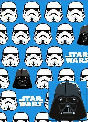 STAR WARS 2 SHEETS OF GIFT WRAP AND 2 GIFT TAGS STORMTROOPER DARTH VADER NEW