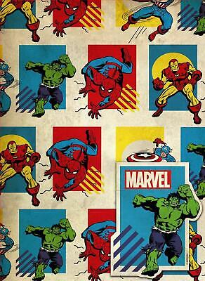 MARVEL COMICS AVENGERS 2 SHEETS OF GIFT WRAP AND 2 GIFT TAGS IRON MAN - Iron Man Wrapping Paper