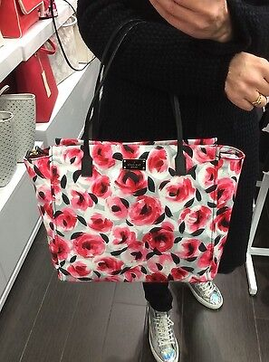 KATE SPADE BLAKE AVENUE PRINTED TADEN TOTE BAG ROSE BED