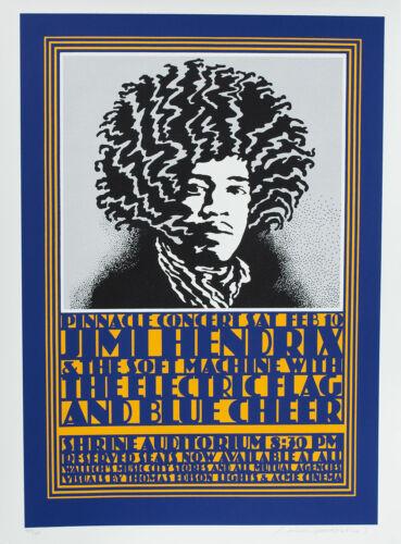 Jimi Hendrix POSTER Pinnacle Shrine John Van Hamersveld Shepard Fairey Print