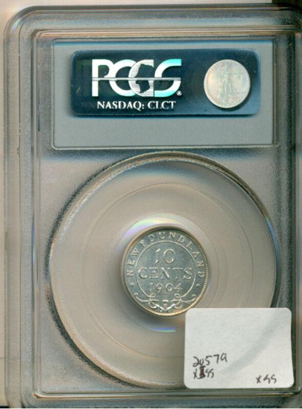 1904-h Newfoundland 10 Cent Pcgs Sp65