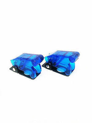 Pactrade Marine X2 Blue Safety Switch Flip Cap Cover Auto Boat Rv Toggle Switch