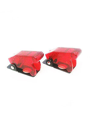Pactrade Marine X2 Red Safety Switch Flip Cap Cover Rv Auto Boat Toggle Switch