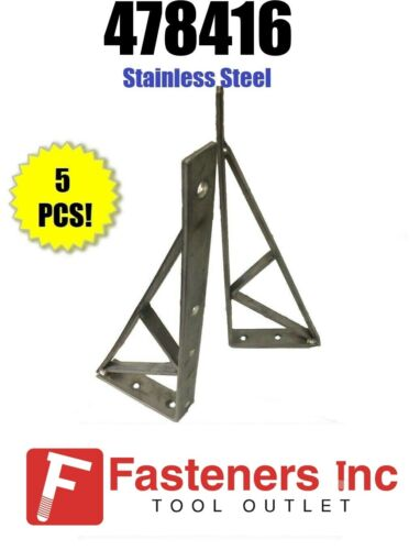 "(#478416S1) P1777 Stainless Steel Unistrut Shelf Bracket / Brace 16-1/2"" Qty: 5"