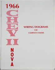 1966 Chevy II Nova Factory Wiring Diagram Manual | eBay