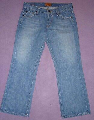 James Jeans USA Designer Preserved Denim Mid Rise Capri Cropped Jeans 8 26 36