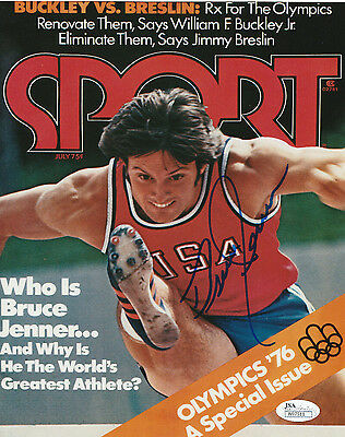 Bruce Jenner Track (Bruce *Caitlyn* Jenner Signed USA Olympics SI 8x10 Photo *Track and Field)