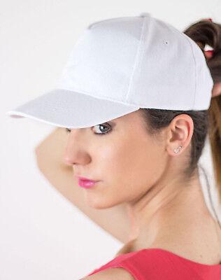 Unisex Lightweight Baseball Cap Plain Adult Fit 20 Colours Velcro Sports Golf