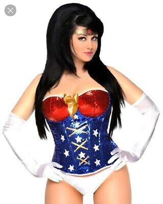 PLUS SIZE 6X Costume Super Hero 4pc Wonder Woman Roleplay 22W 24W 26W