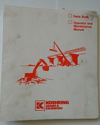 Koehring Lorain Lrt 18u Operators Manual