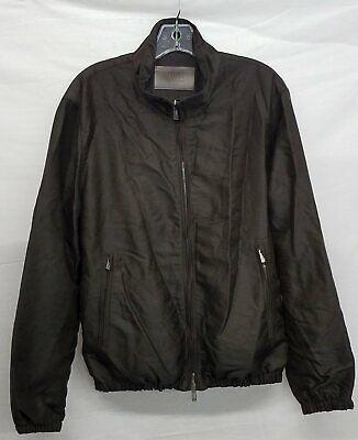 Armani Collezioni Charcoal Polyamide Zip Jacket Men's Size 40