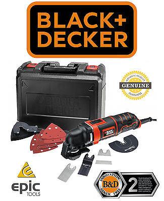 BLACK & DECKER MT300KA 300watt Oscillating Multi Tool & Wood/Metal Blades, 240V
