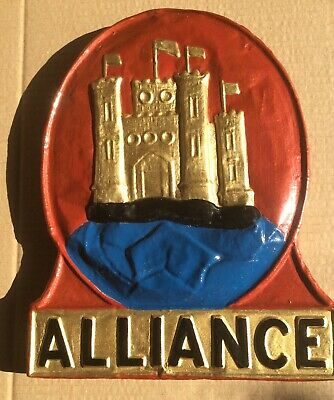 Alliance Assurance Fire Mark in Excellent Condition.