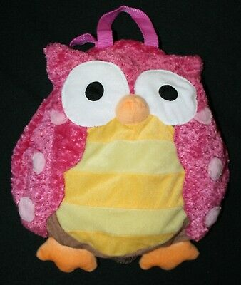 Stephen Joseph Owl Childs Backpack Kids Youth Pink Mesh Mini