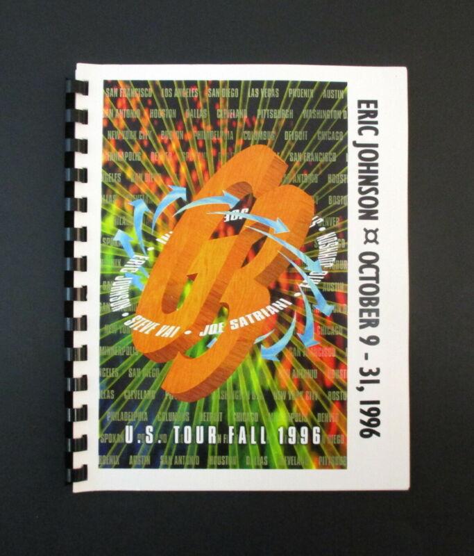 Eric Johnson US Tour Fall 1996 Tour Band & Crew Itinerary Book