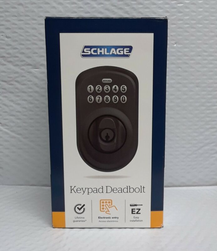 Schlage BE365 PLY 622 Plymouth Electronic Keypad Single Cylinder Matte Black #19