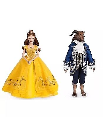 Disney Beauty And The Beast Belle & Beast Live Action Film Movie Dolls Set NEW