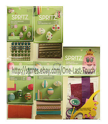 SPRITZ Decorating Kit EASTER Arts & Crafts ACTIVITIES For Kids *YOU CHOOSE* 1c