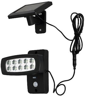 LED Solar Außen Strahler für Wand Terrasse Garten mit Bewegungsmelder Lampe1538