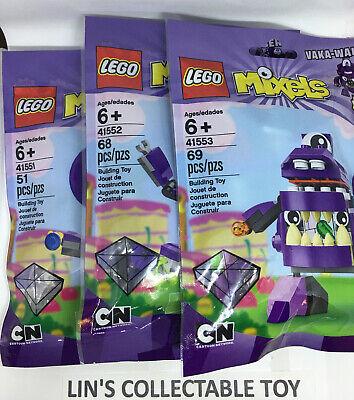 Lot Of 3  LEGO Mixels Series 6 41551 Snax 41552 Berp 41553 Vaka-Waka New SEALED