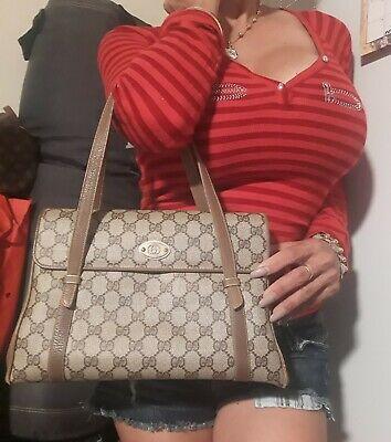 Authentic rare Vintage Gucci GG Monogram Shoulder Bag Purse
