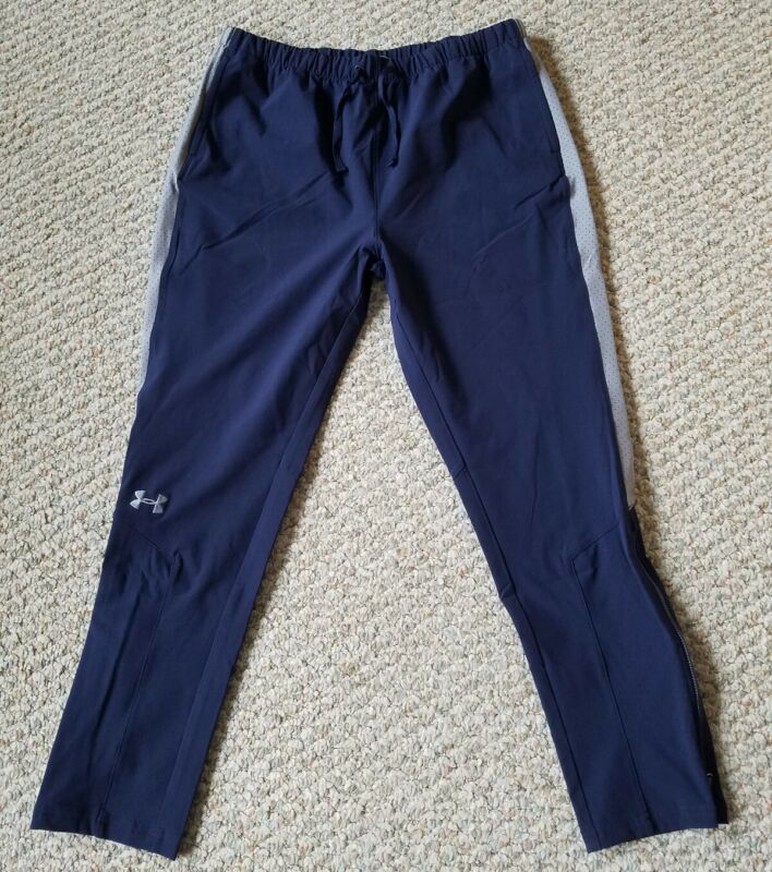 Under Armour Storm Youth Girls Blue with Gray Training Warm-Up Pants Size XL