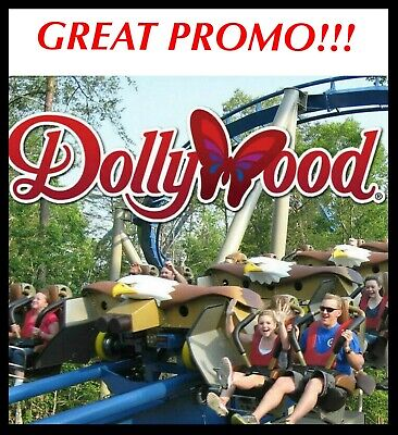 DOLLYWOOD THEME PARK TICKETS PROMO DISCOUNT TOOL SAVINGS ~ BEST DEAL!!