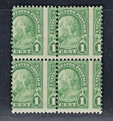 #632 Misperf. Block of 4 Mint NH (JH 5/14)