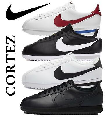 Nike Mens Cortez Basic Leather Classic Premium Trainers Retro Sneakers Kicks