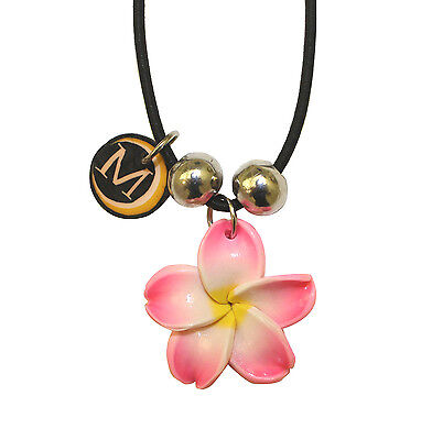 Pink Plumeria Flower Hand Wrist Strap Lanyard Charm for Phones, Cameras, Devices