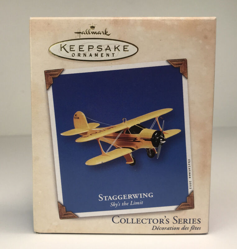 2002  Hallmark Keepsake Ornament STAGGERWING #6 in series Sky's The Limit~New