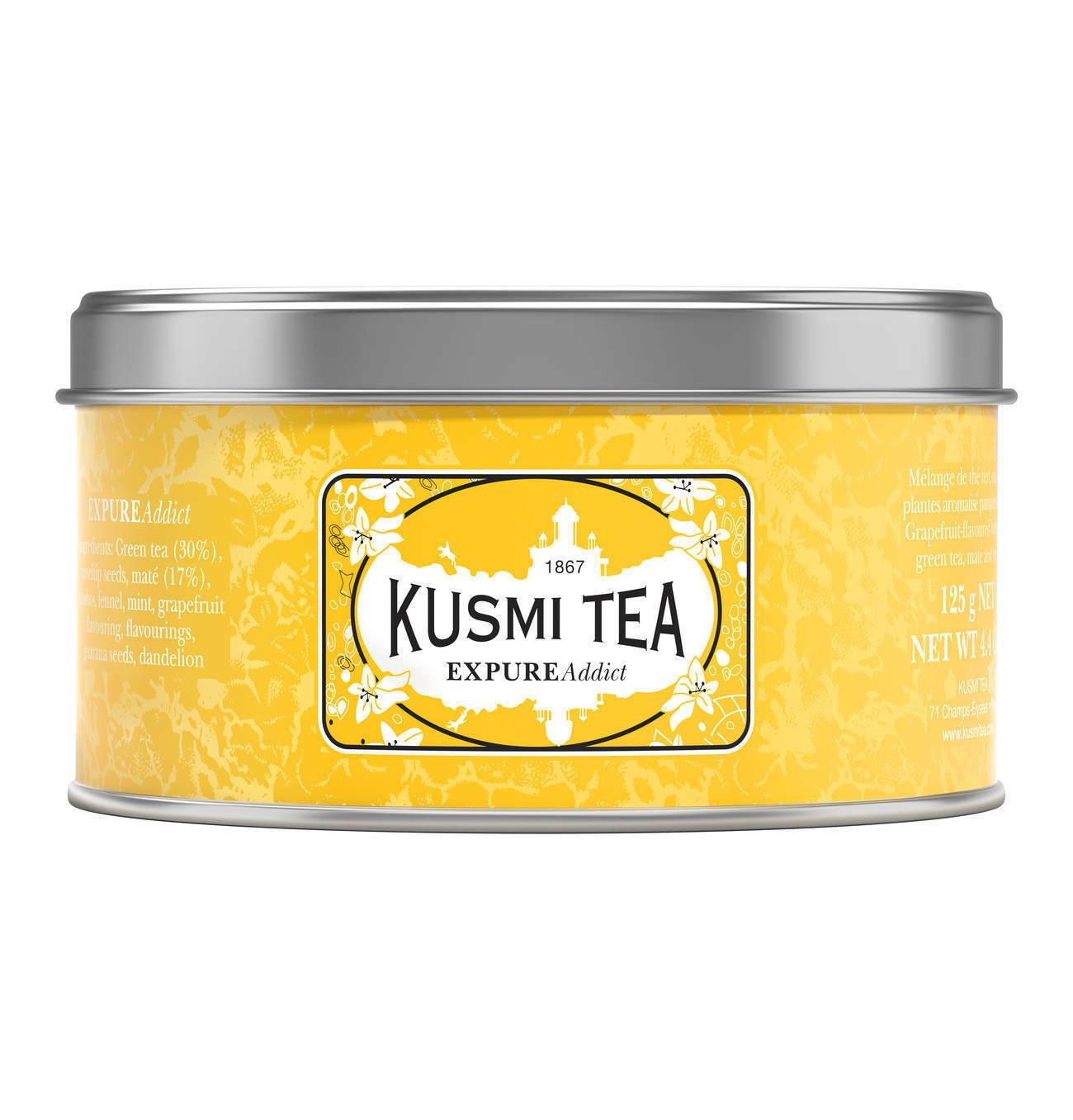 Kusmi Tea Expure Addict 125g Metalldose - Grüner Tee Mate Guarana