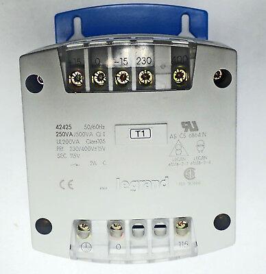 Legrand 42425 Power Supply Invertor Transformer 230400vac -15v Sec 115v